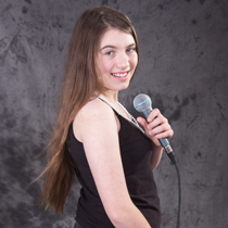 Singing student Ashdyn, Who had years of vocal tuition with Jess.